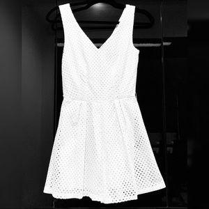 Classy eyelet white Romper/dress
